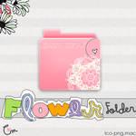 Folder Pink Flowers png-ico-Mac OS x icon