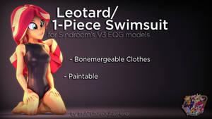 [SFM] [MLP] [DL] Leotard/1-Pc. Swimsuit for V3 EQG
