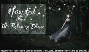 Taylor Swift Haunted font