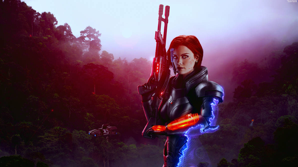Superiority - Mass Effect FemShep Wallpaper 8K