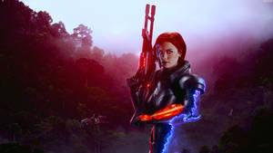 Superiority - Mass Effect FemShep Wallpaper 8K
