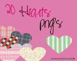 20 Hearts PNG by lilia-kltz-schfr3