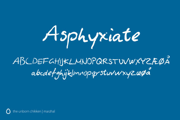 Asphyxiate Font by marzhal