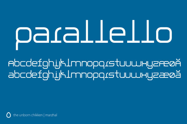 Parallello Font by marzhal