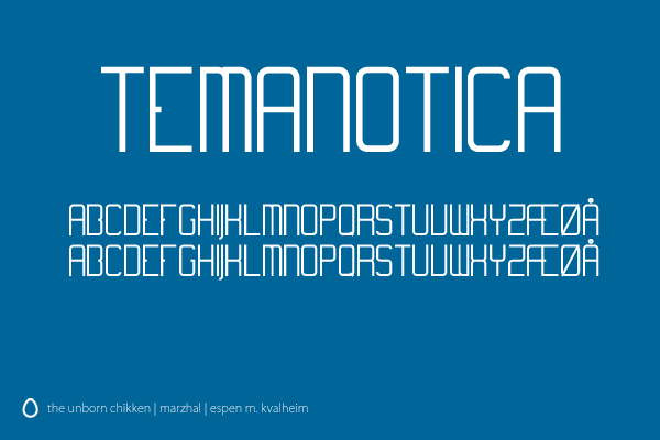 Temanotica Font by marzhal
