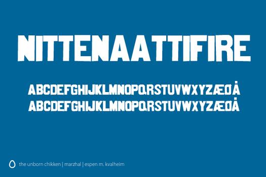 Nittenaattifire Font