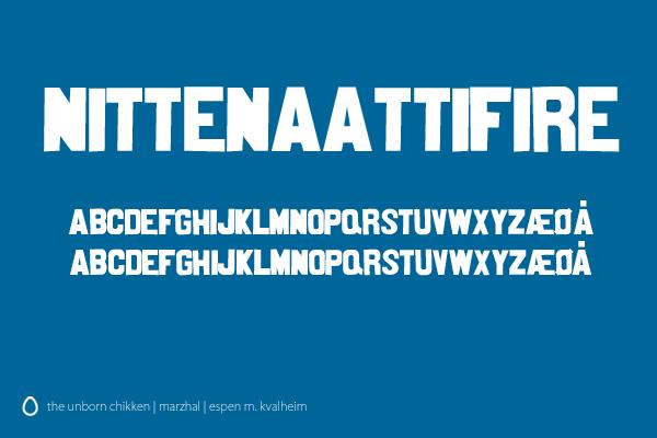 Nittenaattifire Font by marzhal