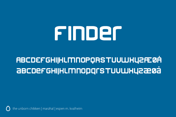 Finder Font by marzhal