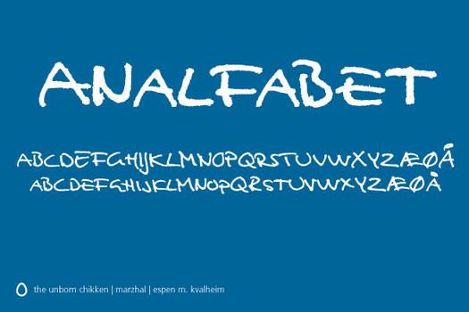 Analfabet Font