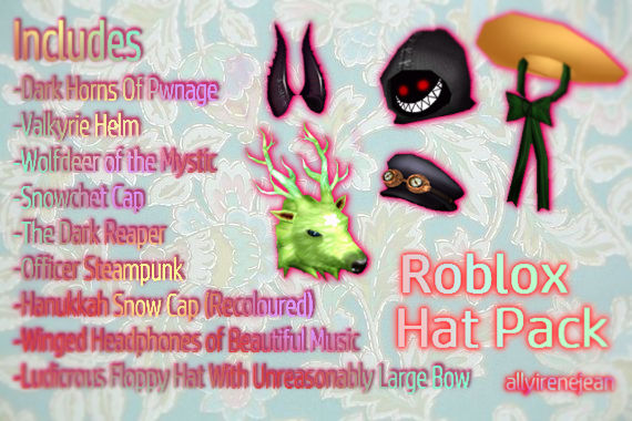 Mmd Roblox Hat Pack By Allyirenejean On Deviantart