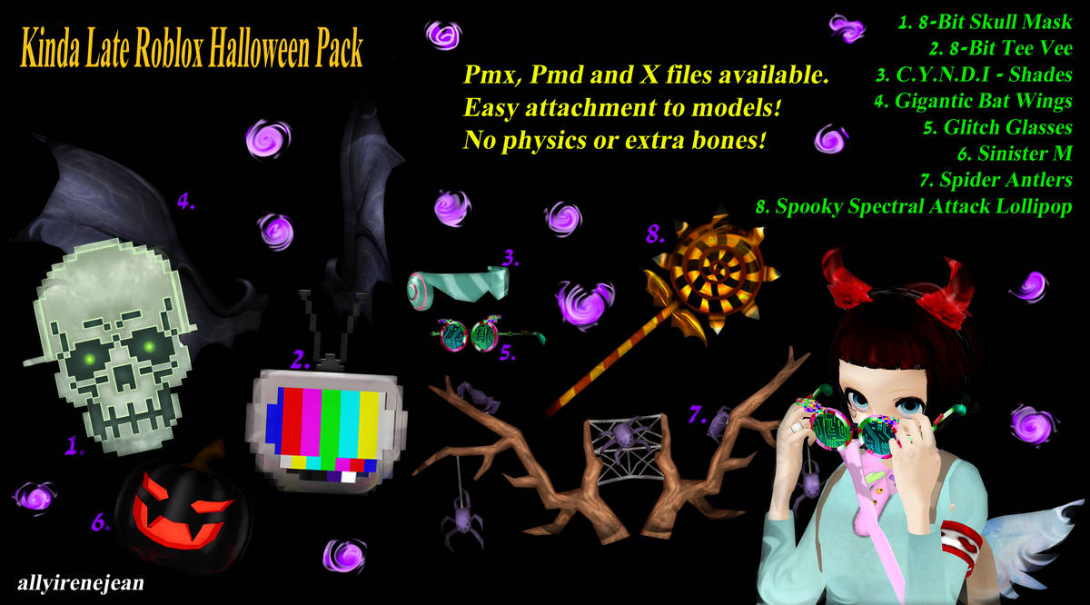 Mmd To Roblox 2018 Halloween Pack By Allyirenejean On Deviantart