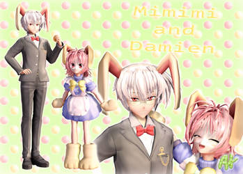 [MMD] Mimimi and Damien + DL!