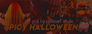 Spicy Halloween. PSD by choleeart