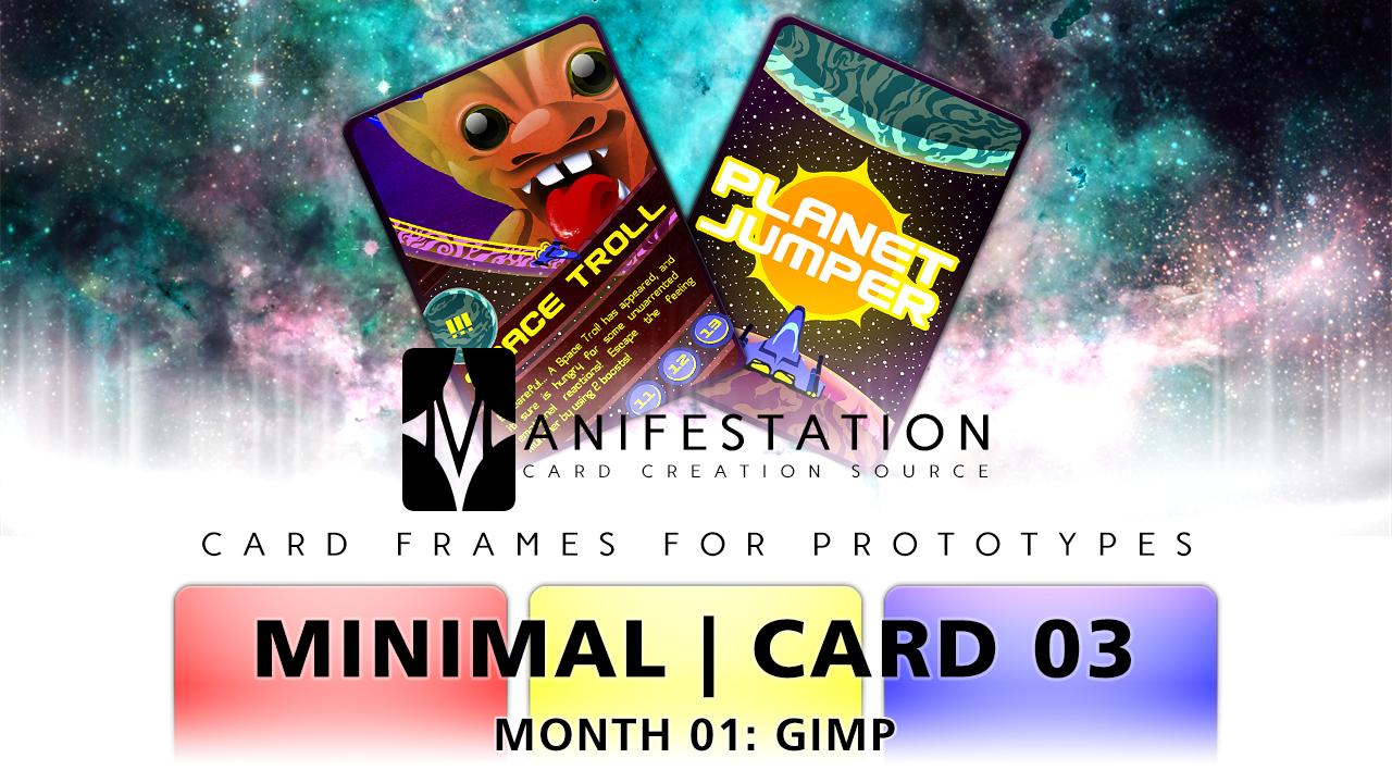 Month 01: Card 03 - GIMP (Minimal | SciFi)