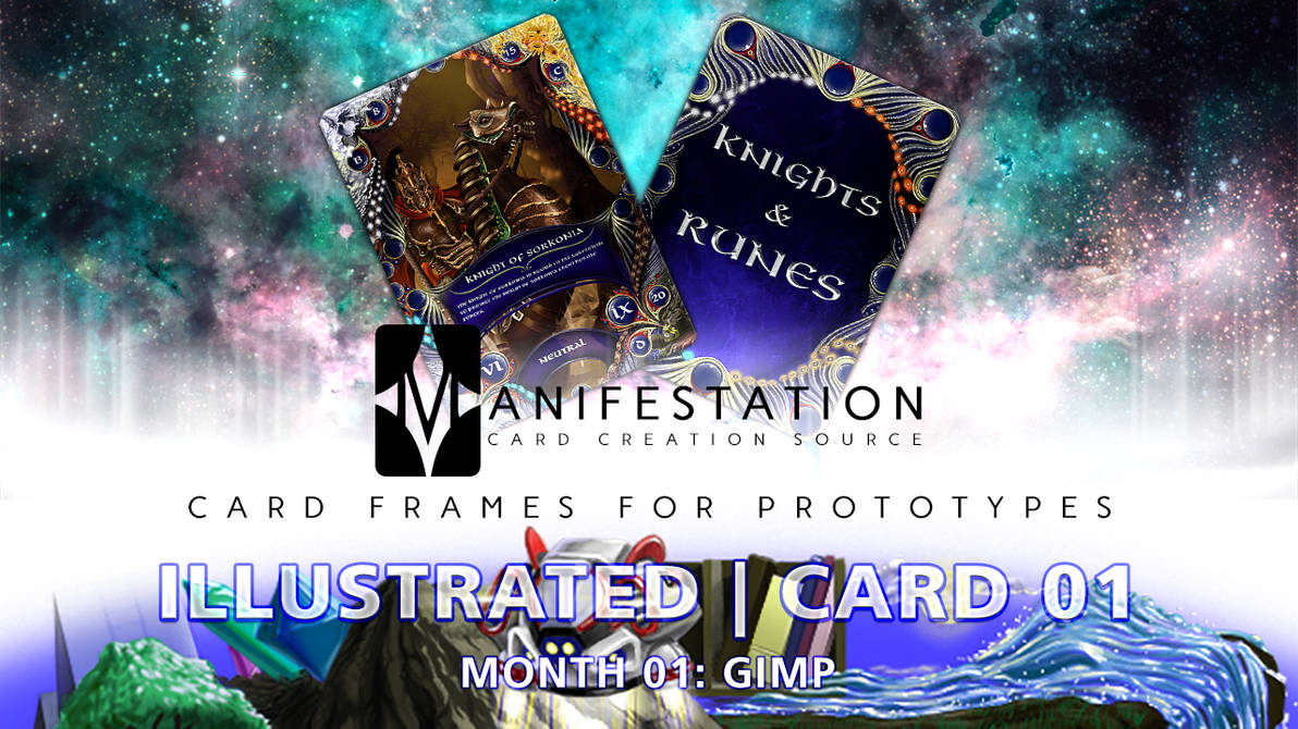 Month 01: Card 01 - GIMP (Illustrated | Fantasy) by CauseThought