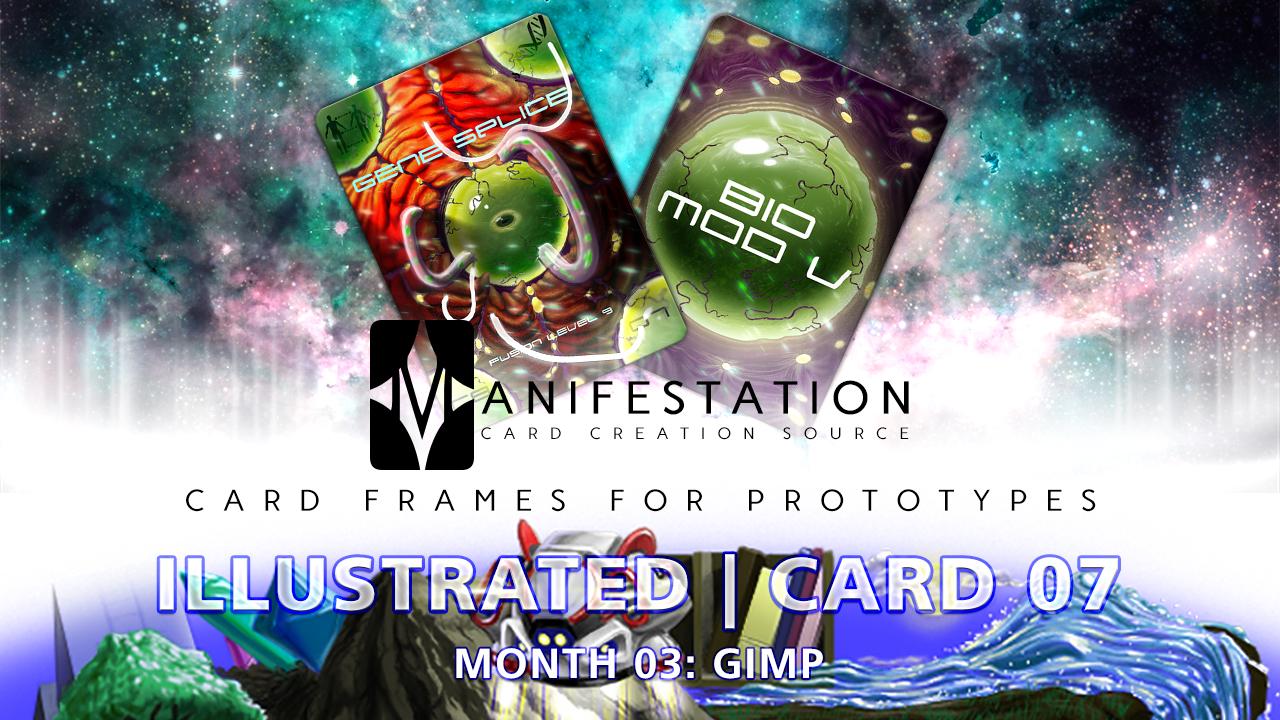 Month 03: Card 07 - Gimp (Illustrated | Sci-Fi)