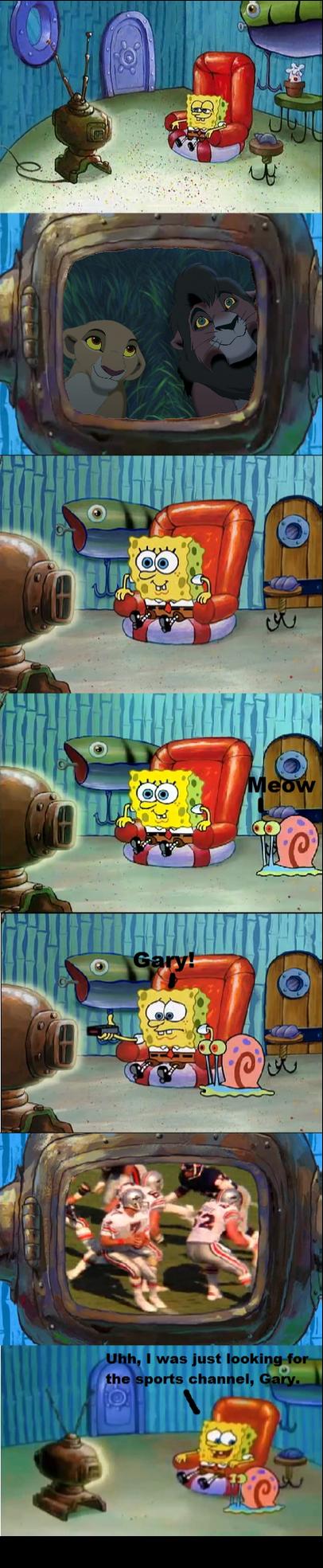SpongeBob is watching The Lion King 2 by EmilioKiara