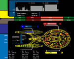 LCARS Desktop With Wallpaper