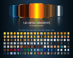 Illustrator Metal Gradients