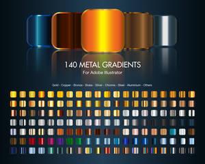 Illustrator Metal Gradients