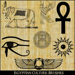 Egyptian Culture Brushes by RoseCabriolet