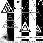 RoseCabriolet Triangle brushes