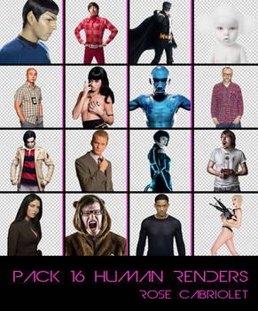Pack 16 Human Renders