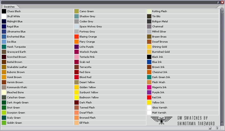 Citadel Paint Colors In Plain Language