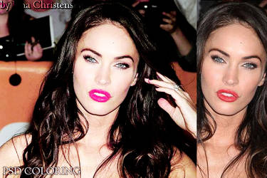 PSD coloring Megan Fox by JanaChristensen