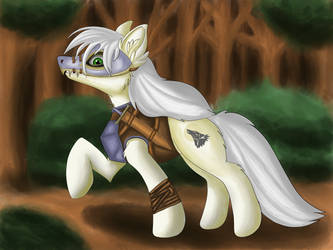 Wild Heart, proud warrior of the Crystal Empire