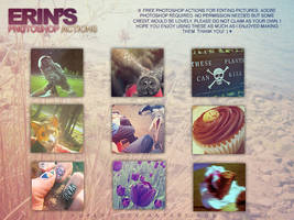 Photoshop actions set 1 by poplet