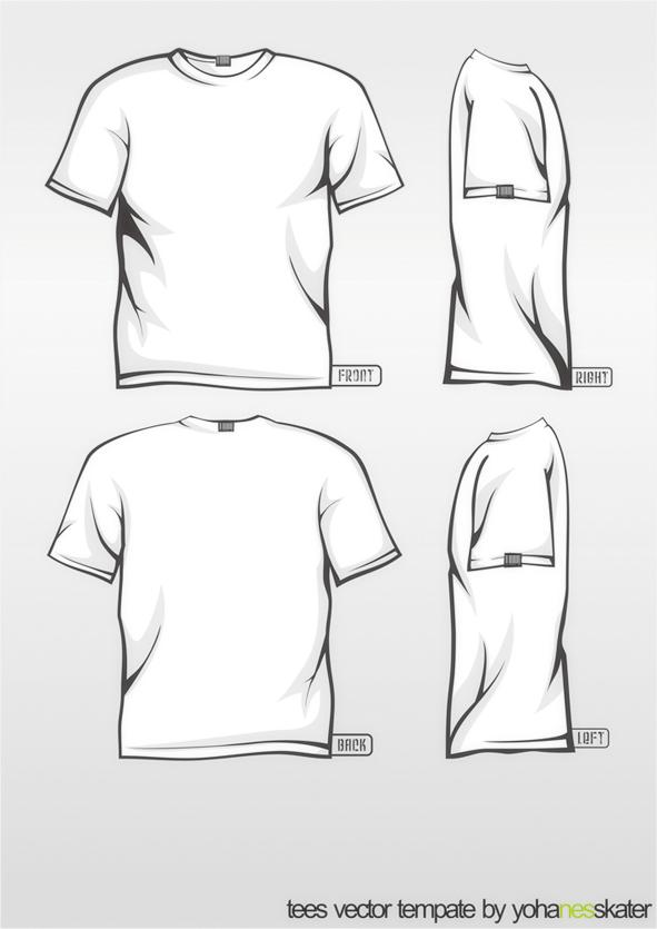 t shirt templates vector
