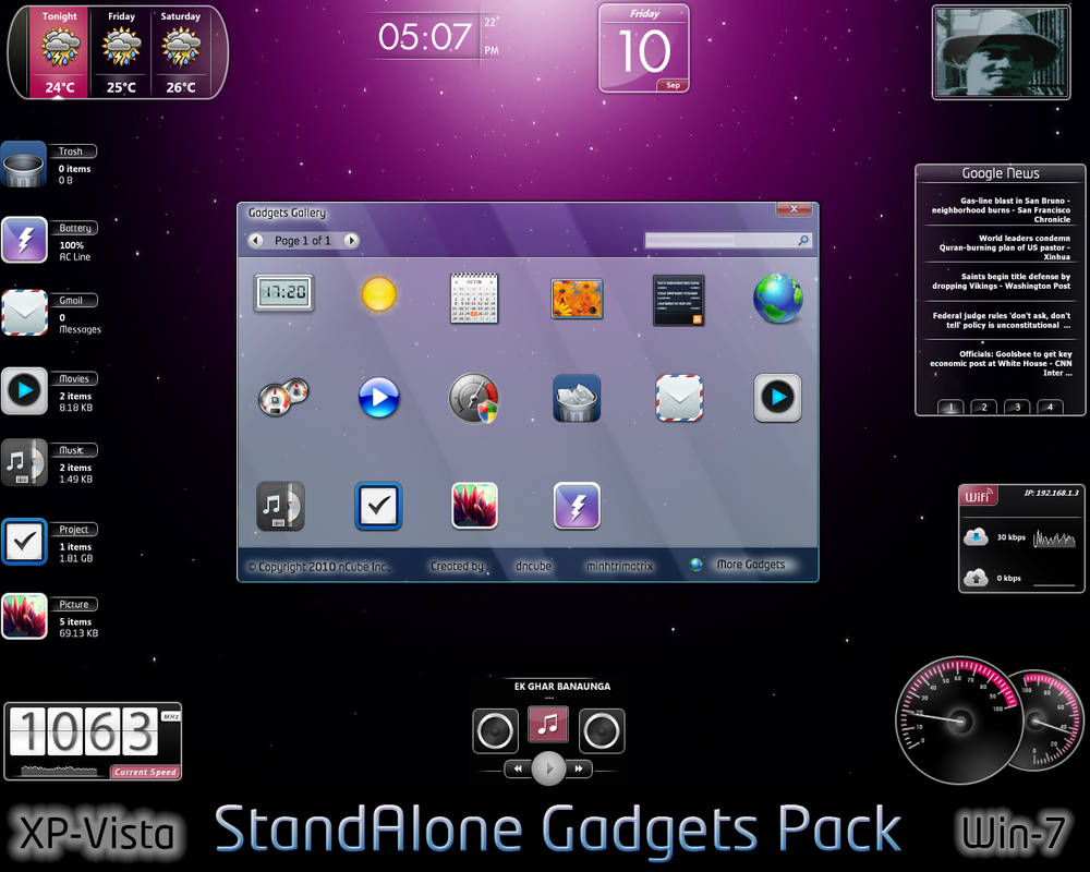 StandAlone Gadgets Pack