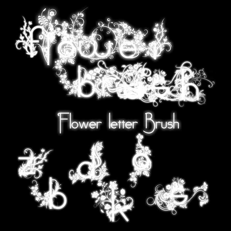 Flower Letter Brush by pullzar