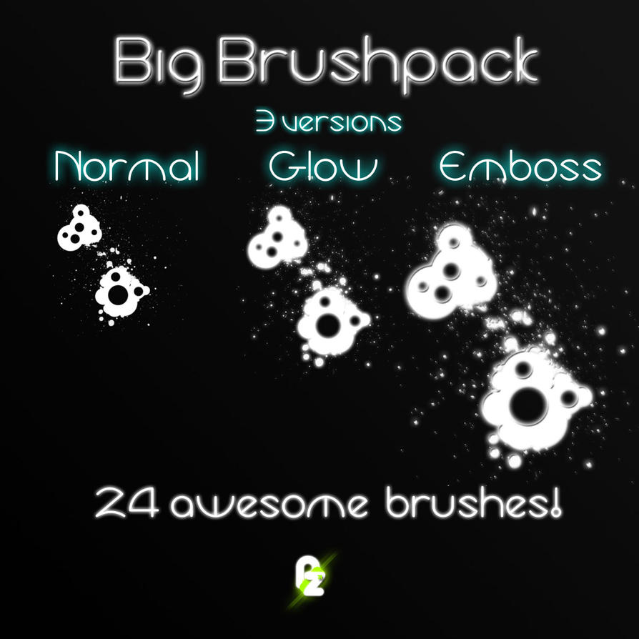 24 Brushes with 3 variations by pullzar