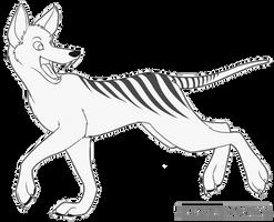 Thylacine Free Lineart