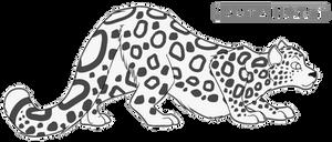 Snow Leopard Free Lineart
