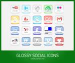 Free glossy social icons