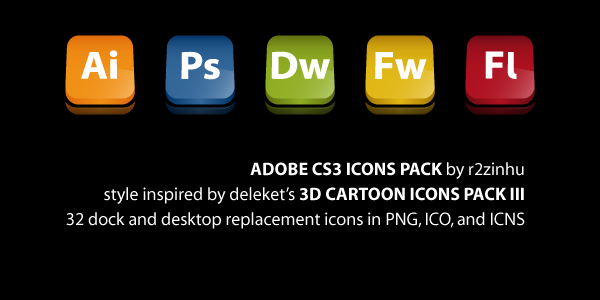 Adobe CS3 Icons Pack by r2zinhu
