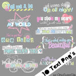 1O Text Png's 1D