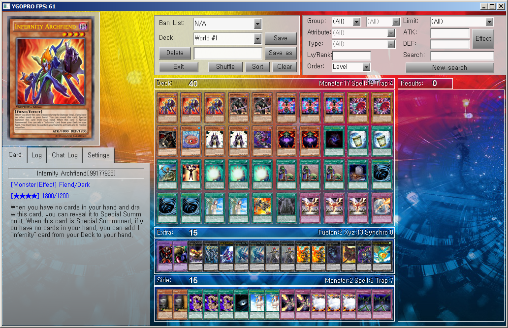 the world s best yu gi oh deck infernity by ygopropro on deviantart