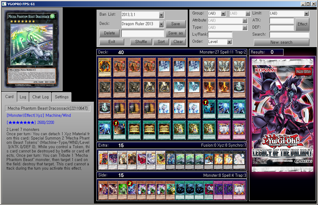 The Dragon Ruler Format of March 2013 for YGOPRO by YGOPROPro on