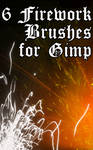 6 Gimp Brushes: Fireworks