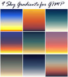 9 Sky Gradients for GIMP