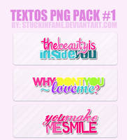 Pack 3 Textos PNG by stuckinfame