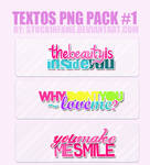 Pack 3 Textos PNG