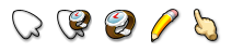 Comic Cursors for XP Set 1 by t-ball