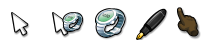 Comic Cursors for XP Set 2 by t-ball