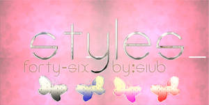 Style Set 46. (With 4 Style Layers) BY::SIUB