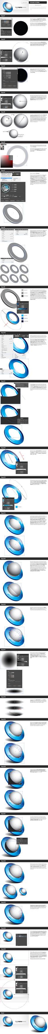 3D Vector Logo in Adobe Illustrator - Tutorial by Crealextion